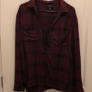 Lulu's lace up flannel